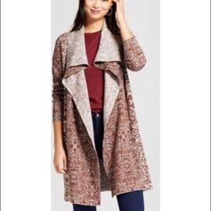 Knox Rose LS Jacquard Cardigan Sweater S
